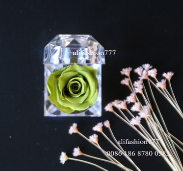 Preserved rose in Crystal Ring Box-14