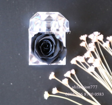 Preserved rose in Crystal Ring Box-17